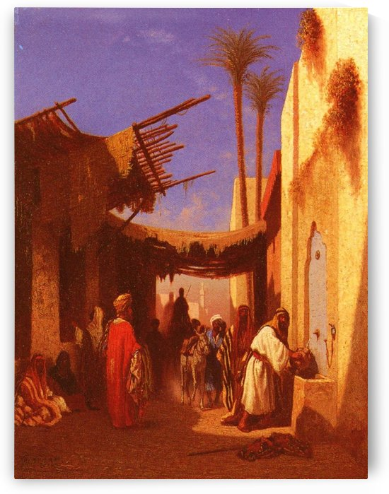 Street in Damascus by Charles-Theodore Frere