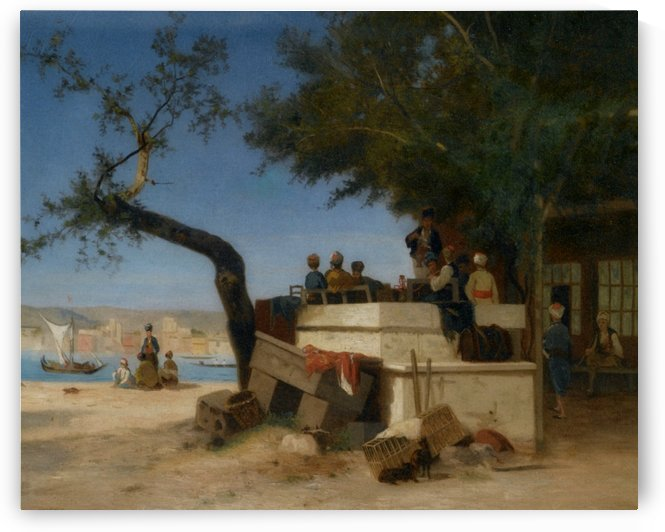 An Eastern Cafe by Charles-Theodore Frere