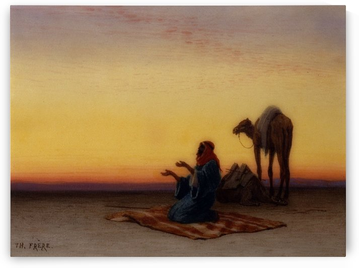 Arab at prayer by Charles-Theodore Frere