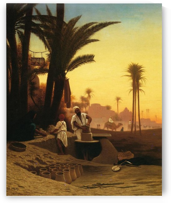 The Egyptian potter by Charles-Theodore Frere