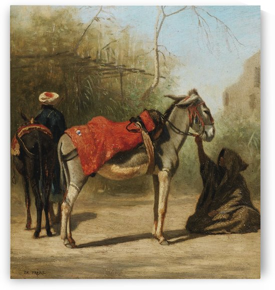 Donkeys in Cairo by Charles-Theodore Frere
