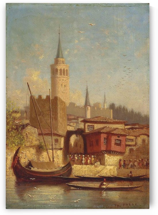 The Galata Tower, Constantinople by Charles-Theodore Frere