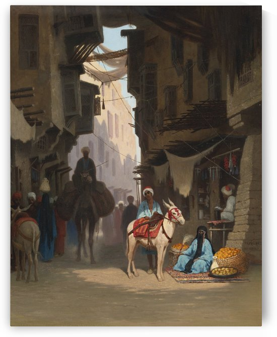 The Souk by Charles-Theodore Frere