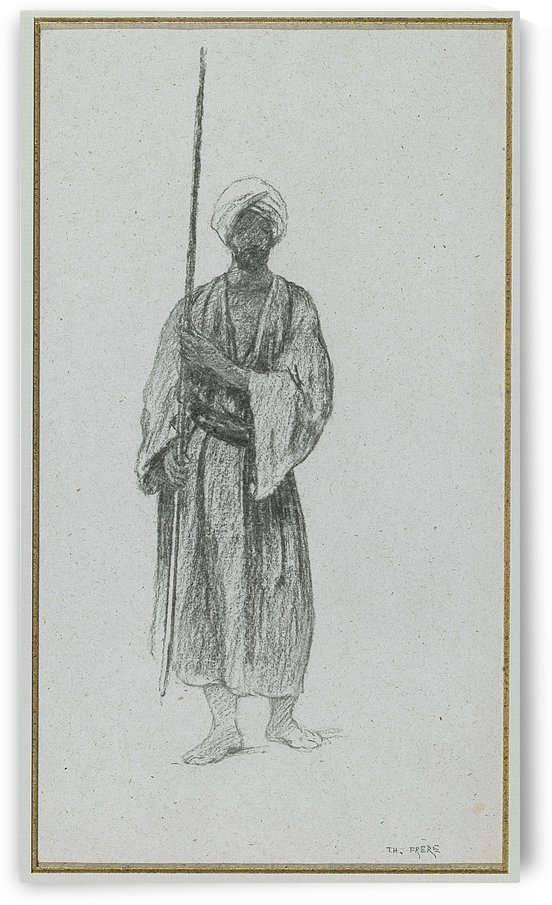 Arab sentinel by Charles-Theodore Frere