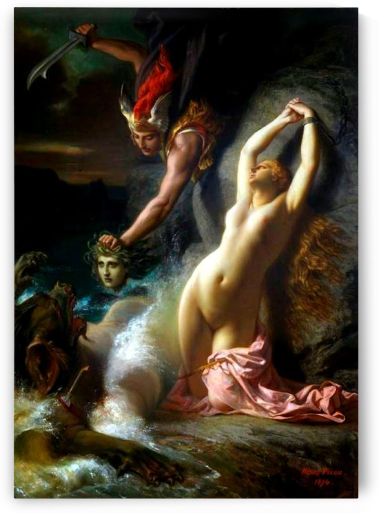 Andromeda chained to a rock by Henri Pierre Picou