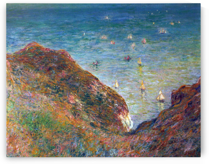 On the cliffs of Pour Ville, Fine weather by Monet by Monet