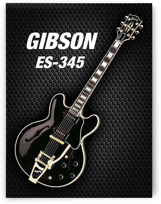 Black gibson-es-345 by shavit mason