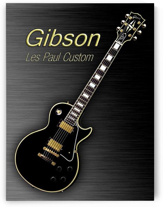Black Gibson Les paul Custom by shavit mason