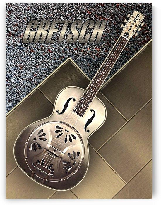 Old  Gretsch Acoustic Resonator   by shavit mason