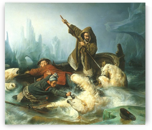 Fight with Polar Bears by Francois-Auguste Biard