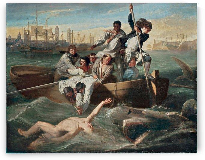 Les Naufrages attaques par un requin by Francois-Auguste Biard