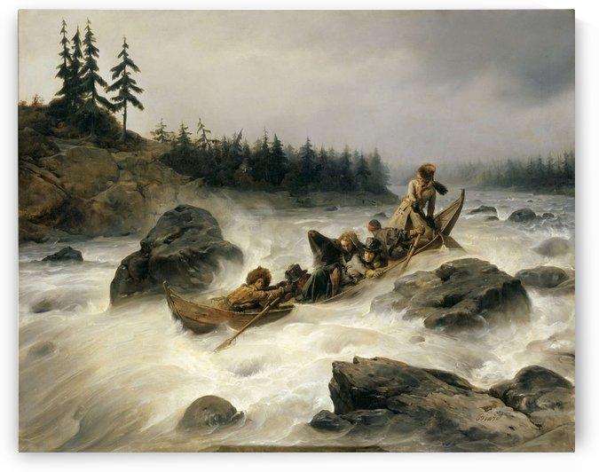 Le Duc d'Orleans descendant le grand rapide by Francois-Auguste Biard