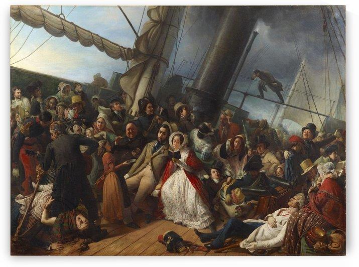 Mal de mer sur une corvette anglaise by Francois-Auguste Biard
