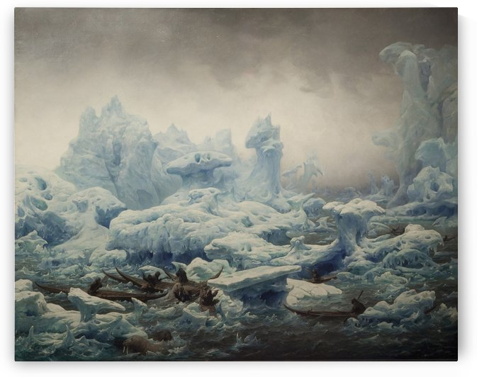View of the Polar Sea, 1841 by Francois-Auguste Biard