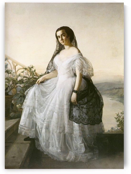 Retrato de mulher by Francois-Auguste Biard