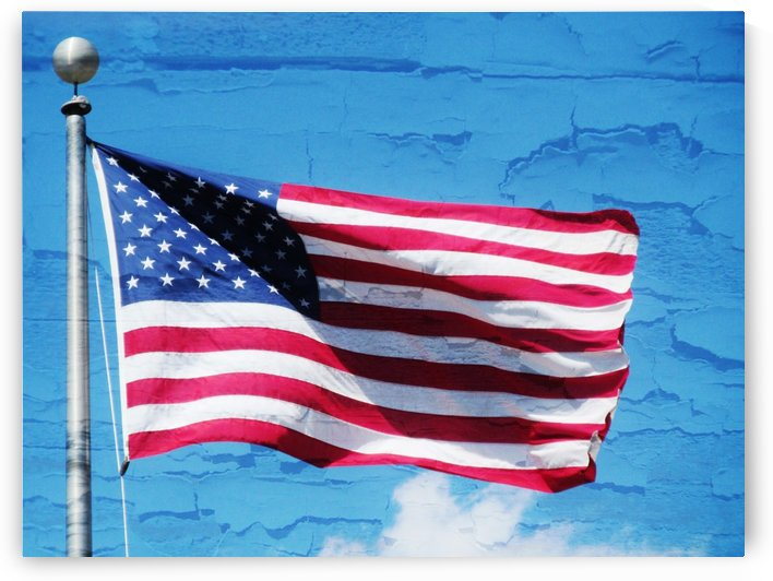 Flag on the Wall by Don  Baker