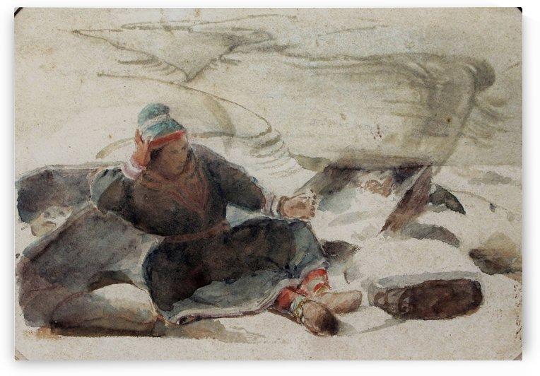 Femme de Laponne by Francois-Auguste Biard