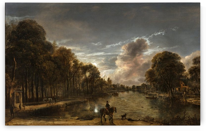 Gorinchem 1603 - Amsterdam 1677 by Aert van der Neer
