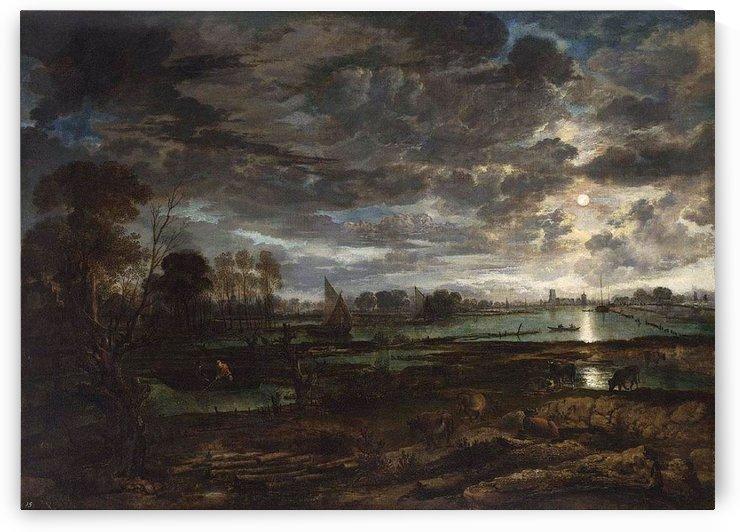 River Landscape by Aert van der Neer