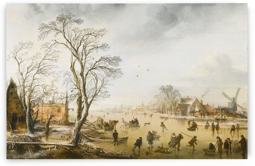 A winter landscape by Aert van der Neer