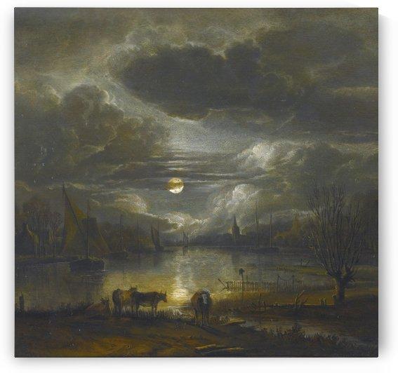 Amsterdam, 9 novembre 1677 by Aert van der Neer