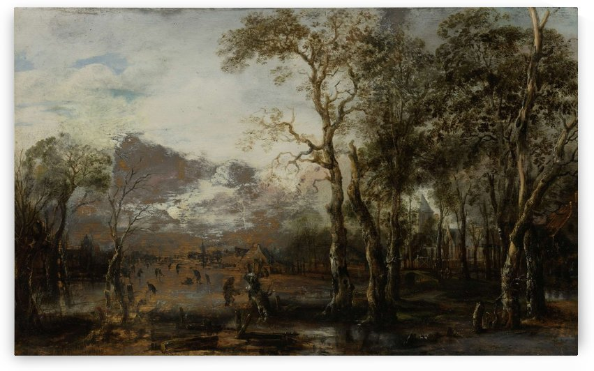 Landscape with hunter by Aert van der Neer