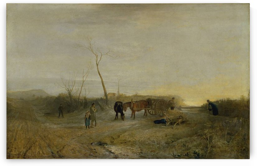 A frosty morning by Aert van der Neer