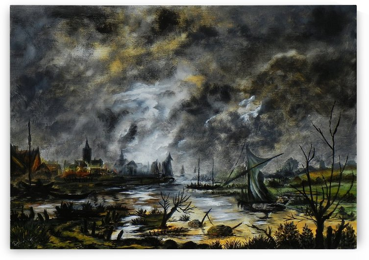 A stormy night by Aert van der Neer