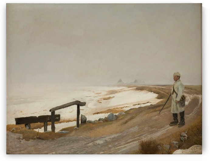 A solider by the edge of the sea by Laurits Andersen Ring