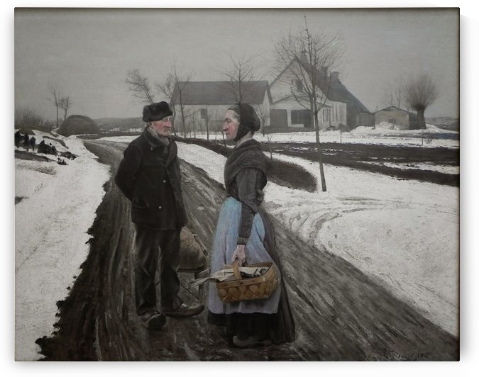 An old man and woman by Laurits Andersen Ring