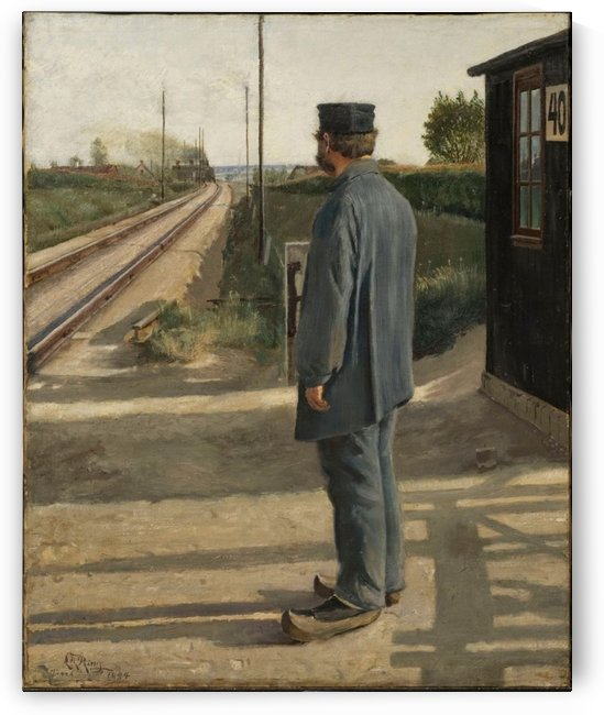 A man in his blue uniform by Laurits Andersen Ring