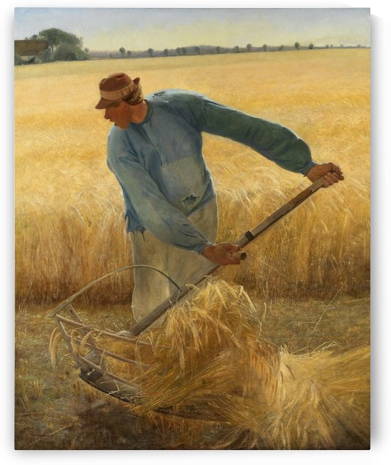 A man harvesting the crops by Laurits Andersen Ring