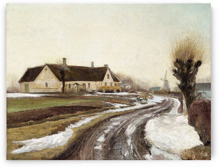 Landscape with a large house by Laurits Andersen Ring