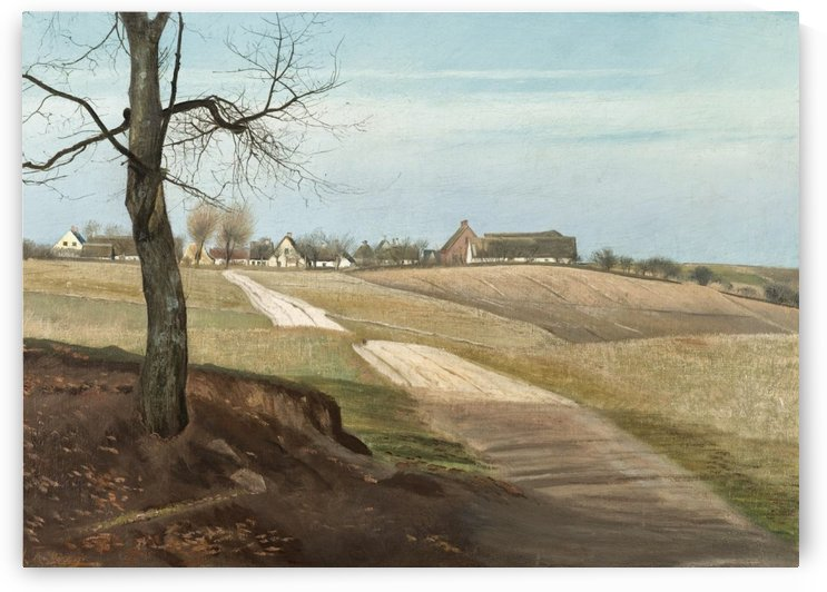 Landscape of a country house by Laurits Andersen Ring