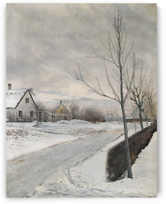 A bunch of houses in winter time by Laurits Andersen Ring