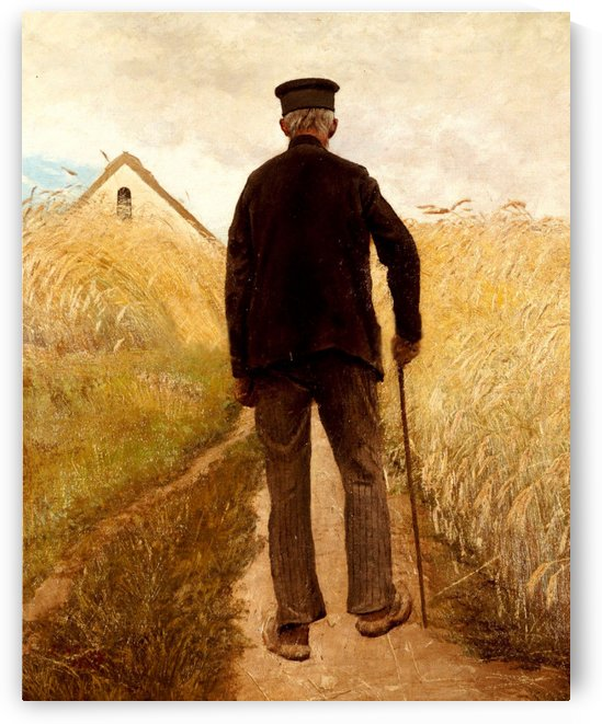 An old man returning home by Laurits Andersen Ring
