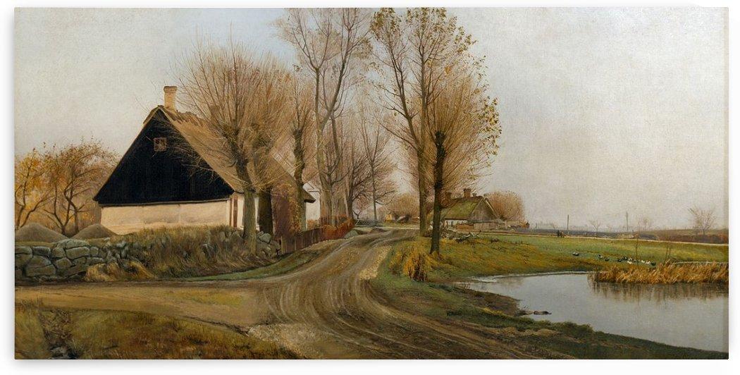 Ring Village street in Baldersbronde 1905 by Laurits Andersen Ring