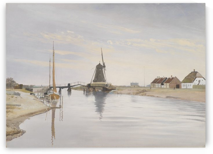 An mill by the river by Laurits Andersen Ring