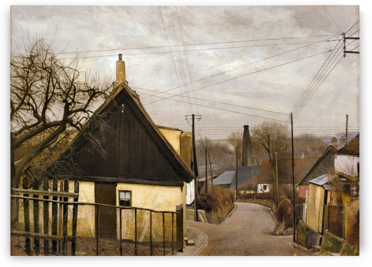 View of a village by Laurits Andersen Ring
