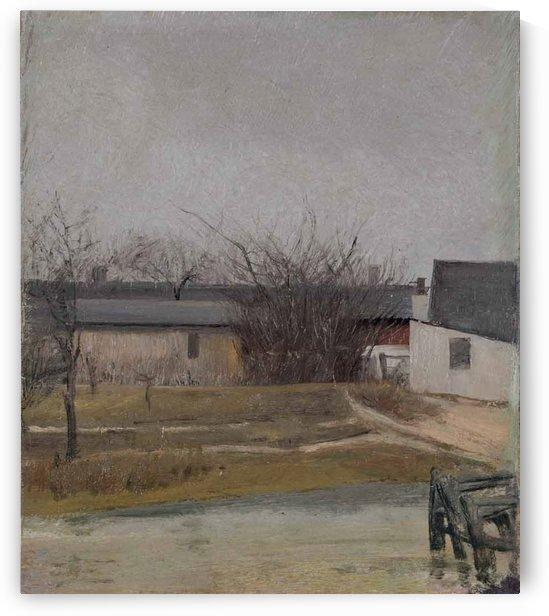 Barnyard in Winter by Laurits Andersen Ring