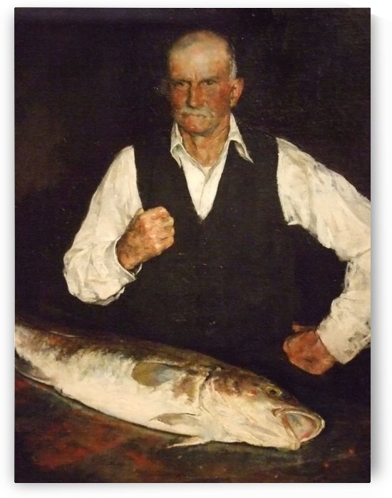 A happy fisherman by Laurits Andersen Ring