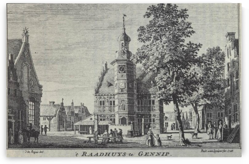 Raadhuys te gennip by Jan de Beijer