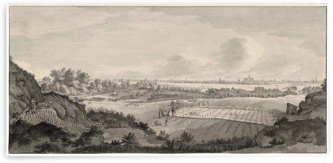 Bloemendaal Bleaching Fields with Haarlem in the Distance by Jan de Beijer
