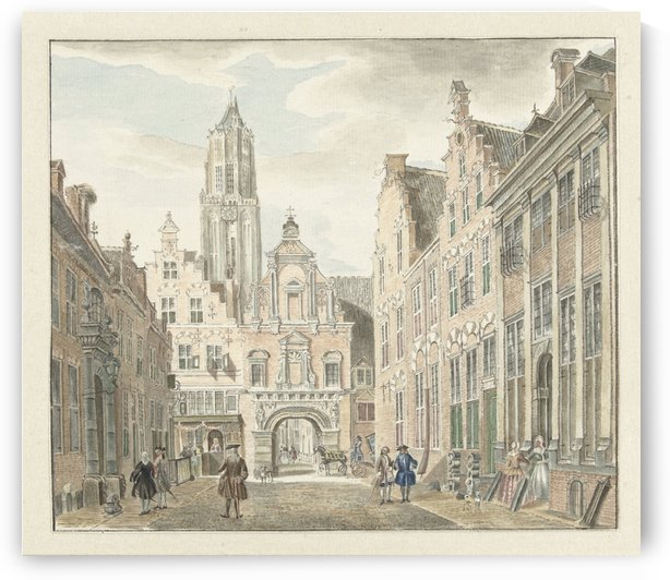 Nieuwstraat door by Jan de Beijer