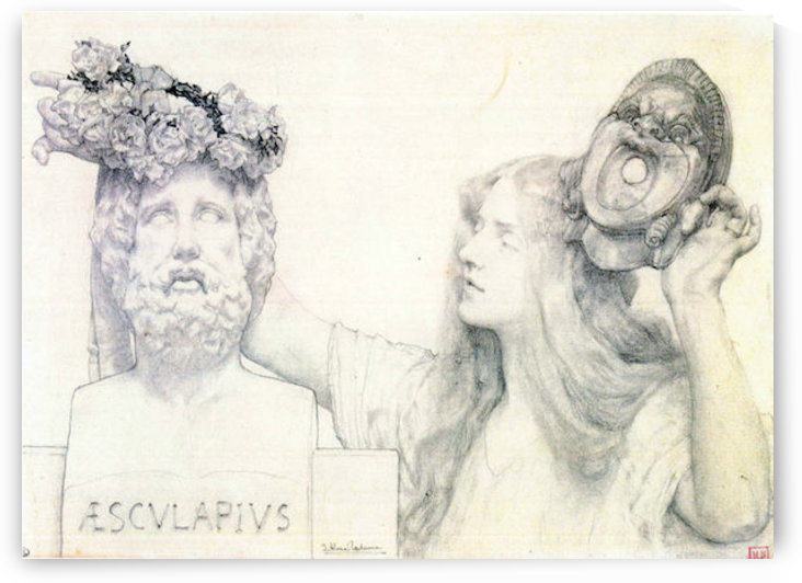 The coronation of AESCULAPIUS by Alma-Tadema by Alma-Tadema