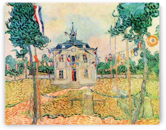 14 July in Auvers by Van Gogh by Van Gogh