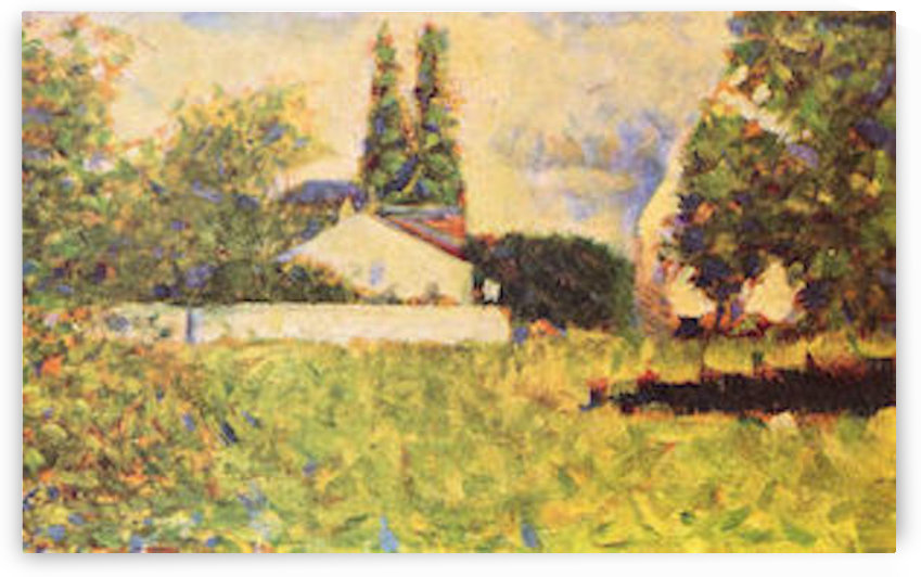 A house between trees by Seurat by Seurat