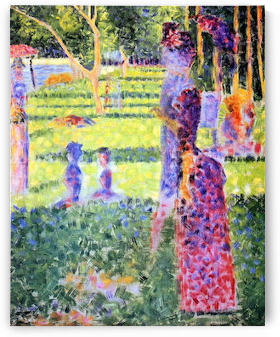 A Sunday on La Grande Jatte, study for a pair by Seurat by Seurat