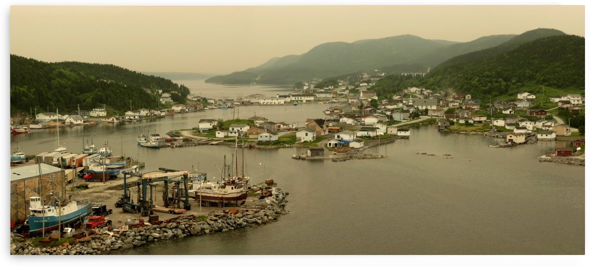 Englee, Newfoundland under a pall of forest fire smoke, July 5, 2013 by Doug McQuinn