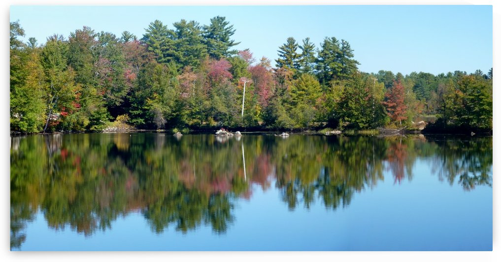 Fall Foliage at Pocasset Lake, Maine, Sept. 30, 2013 by Doug McQuinn